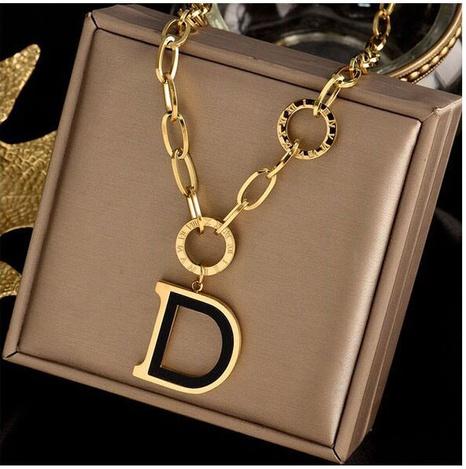 Fashion Concise D Letter Pendant Necklace  NHSC308765's discount tags