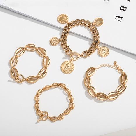 new fashion simple bohemian shell alloy bracelet NHAI308595's discount tags