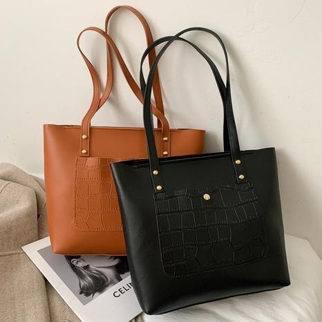nouveau sac portable coréen simple de grande capacité à une épaule NHRU308771's discount tags