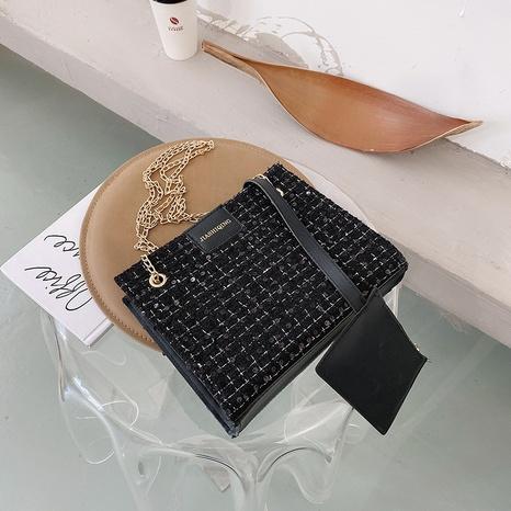 sac à bandoulière simple à carreaux grande capacité NHRU308802's discount tags