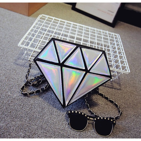 Sac bandoulière chaîne diamant NHRU308803's discount tags