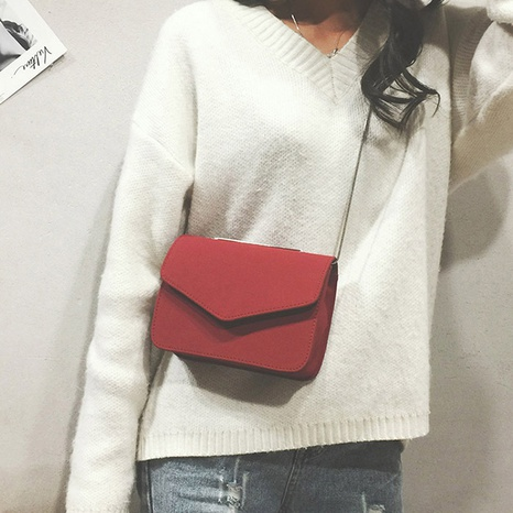 fashion Korean simple frosted messenger small square bag NHRU308873's discount tags