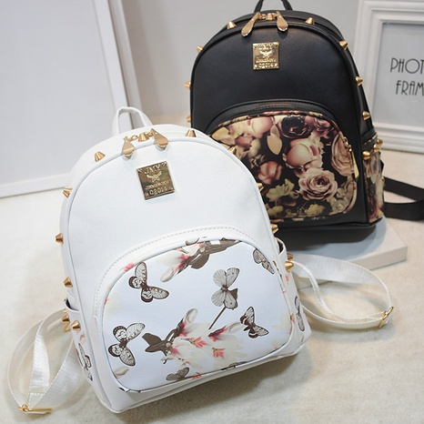 new fashion printing rose backpack NHRU308876's discount tags