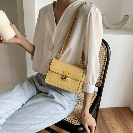 fashion chain shoulder small square bag NHRU309097's discount tags
