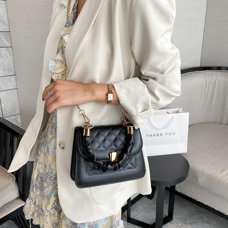 simple chain shoulder messenger bag NHRU309110's discount tags