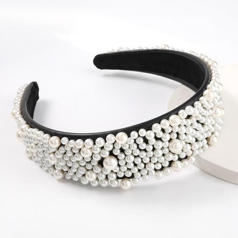 Koreanisches einfaches Perlenstirnband aus Leder NHJE309194's discount tags