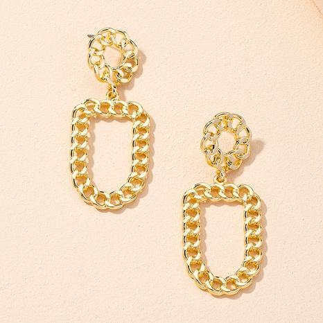 new retro fashion chain geometric earrings NHAI309238's discount tags