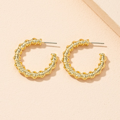 Koreas neue einfache, geometrische, verdrehte Twist Circle-Ohrringe NHAI309239's discount tags