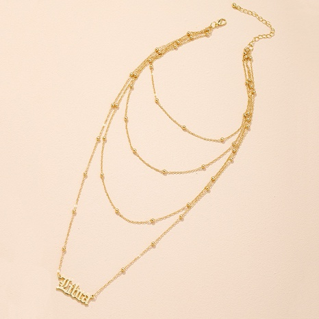 Koreanische einfache Mode Brief Anhänger Halskette NHAI309241's discount tags
