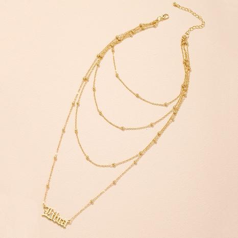 Korean simple fashion letter pendant necklace  NHAI309241's discount tags