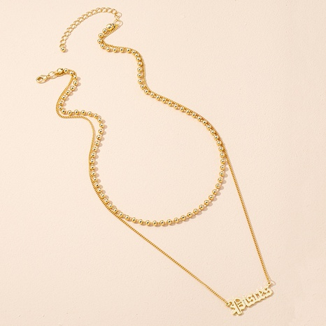 new simple letter pendant necklace NHAI309243's discount tags