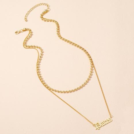 neue einfache Briefanhänger Halskette NHAI309243's discount tags