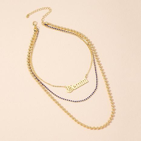 new fashion diamond letter pendant necklace  NHAI309244's discount tags