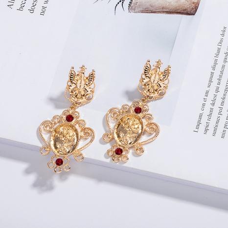 Bohemian Ethno-Stil übertriebene Diamant-Ohrringe NHAI309245's discount tags