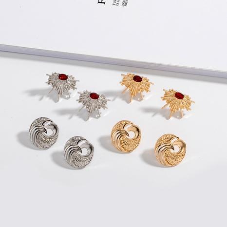 einfache unregelmäßige Diamant-Hohlohrringe NHAI309249's discount tags