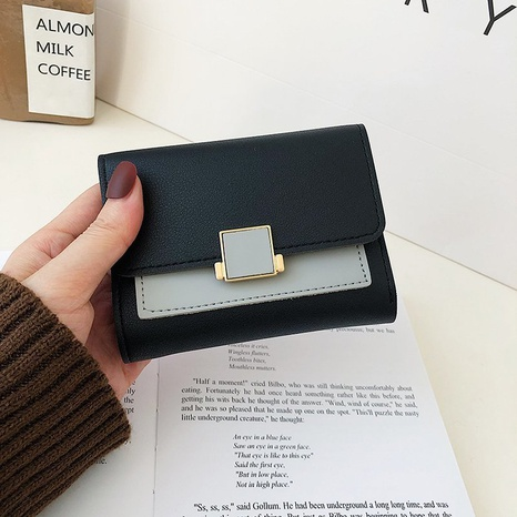 fashion contrast color simple wallet  NHTG309271