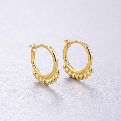 Neue goldene runde Perlenohrringe der koreanischen Mode NHLL309292's discount tags
