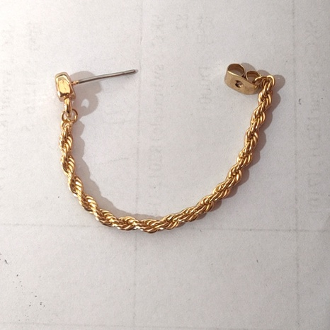 twist chain earrings wholesale NHLL309326's discount tags