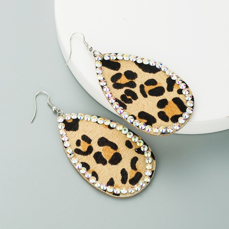 fashion leather leopard print bohemian earrings NHLN309337's discount tags