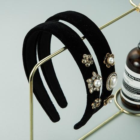 new alloy inlaid pearl rhinestone headband NHLN309338's discount tags