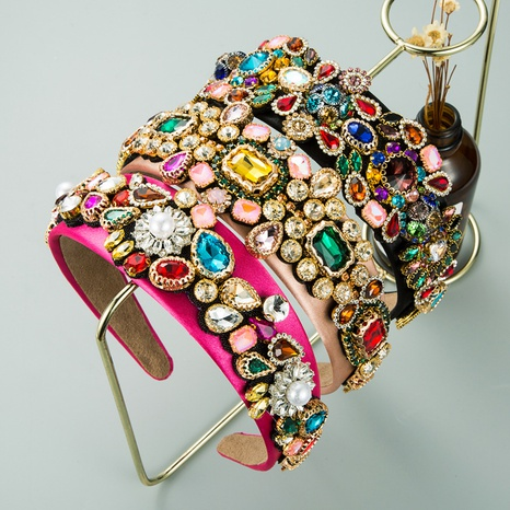 fashion alloy flower baroque headband NHLN309341's discount tags