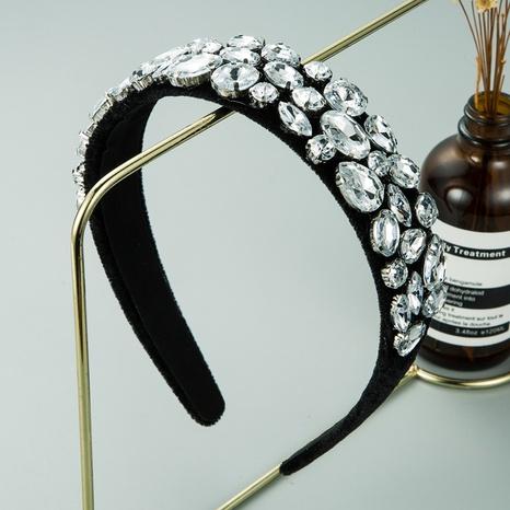 simple baroque glass velvet headband  NHLN309343's discount tags