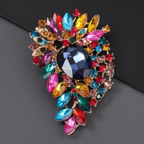 broche en alliage simple pleine fleur de diamant NHJE309359's discount tags
