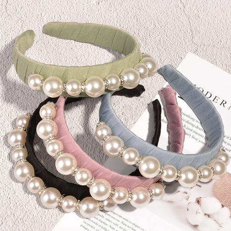 Pearl retro sweet headband  NHAQ309369's discount tags