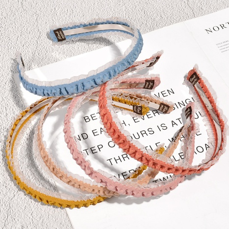 fashion mesh fold headband  NHAQ309371's discount tags
