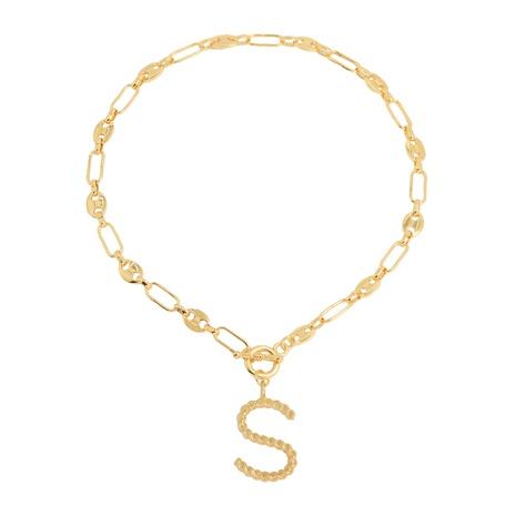 neue 26 Buchstaben einfache goldene englische Halskette NHJQ309374's discount tags
