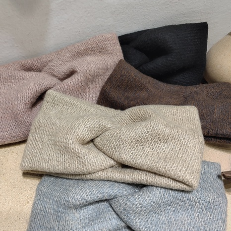 fashion woolen cross headband  NHAR309403's discount tags