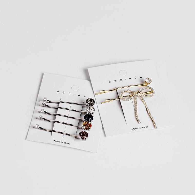 Korea simple tassel bow one word clip  NHAR309509