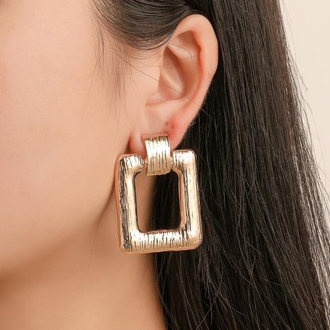 einfache quadratische Retro-Ohrringe aus Metall NHDP309550's discount tags