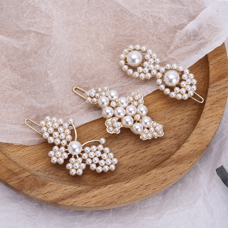flower butterfly pearl hairpin wholesale NHAQ309603's discount tags