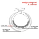 simple multilayer tassel necklace NHXR309629