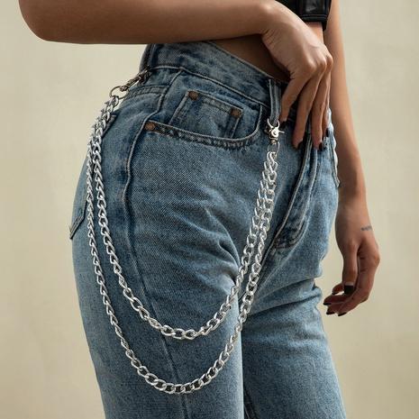 fashion simple geometric double metal waist chain NHXR309633's discount tags