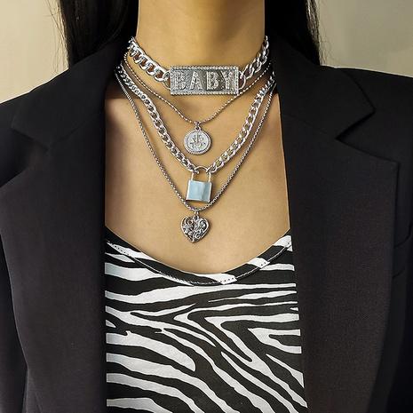 einfache übertriebene Briefanhänger-Halskette NHXR309637's discount tags