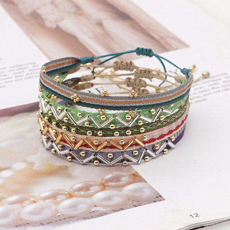Böhmisches mehrschichtiges Retro-Armband NHGW309651's discount tags