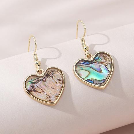 Korean creative fashion popular resin peach heart earrings NHPS309693's discount tags