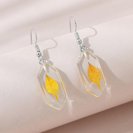 Korean creative fashion simple leaf earrings NHPS309710's discount tags