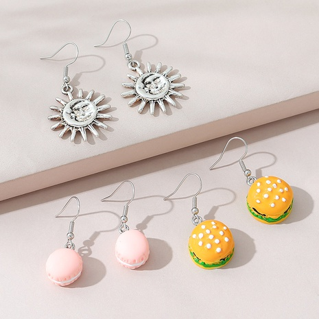 conjunto de aretes dulces lindos de moda salvaje creativa NHPS309713's discount tags