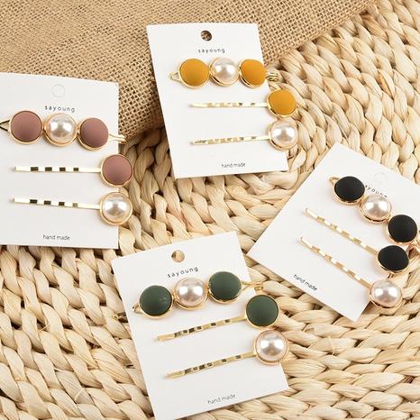 Nouvelle épingle à cheveux coréenne en perles givrées NHAQ309791's discount tags