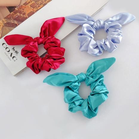 gomas de pelo de orejas de conejo de moda de tela de satén NHAQ309801's discount tags