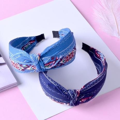 Kreuzgeknüpftes Stirnband aus Stoff NHAQ309814's discount tags