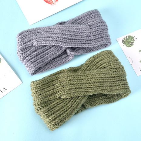 simple knitted woolen headband NHAQ309818's discount tags
