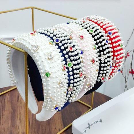 diamond pearl sponge headband  NHAQ309821's discount tags