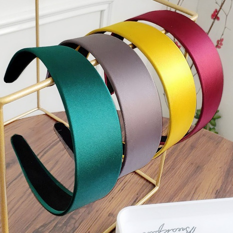 breitkrempiges Satin Candy Color Fashion Stirnband NHAQ309824's discount tags