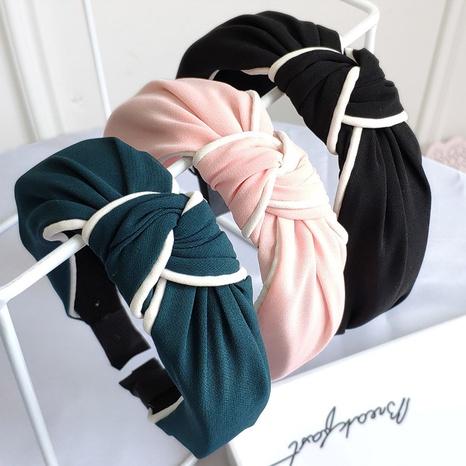Mode breitseitig geknotete Stirnband Großhandel NHAQ309828's discount tags