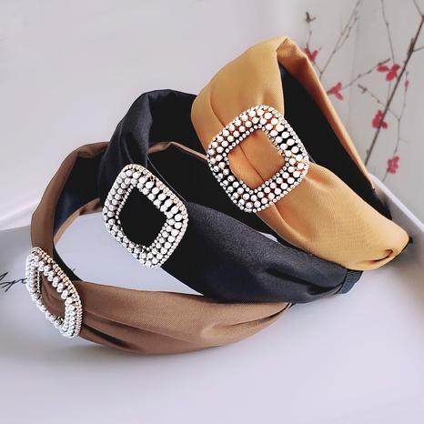 new wide-sided rhinestone pearl headband  NHAQ309830's discount tags
