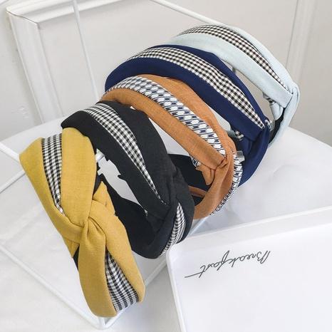 fashion lattice stitching headband  NHAQ309831's discount tags